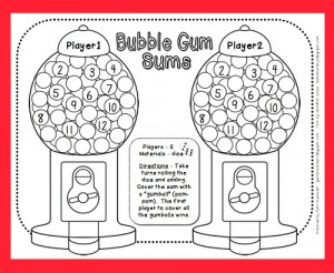 Bubble Gum Counting Game