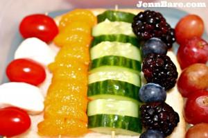 Rainbow lunch ideas