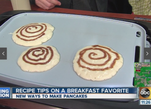 Cinnamon Roll Pancakes on ABC15