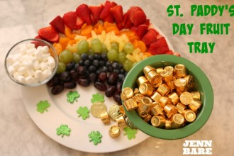 St. Paddy's Day fruit tray
