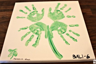 Handprint Portrait for St. Patrick's Day