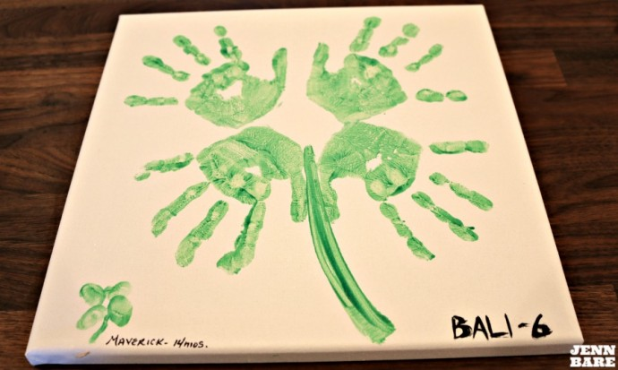 Handprint Portrait for St. Patrick's Day