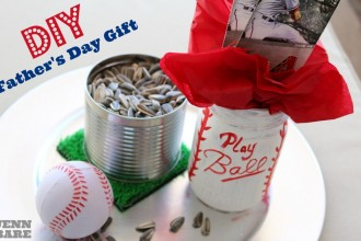 DIY Baseball Father's Day Gift