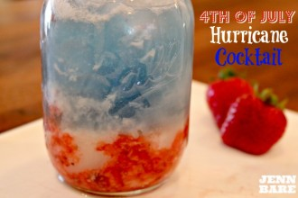 Festive 4th of July Hurricane Cocktail