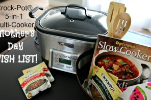 Mother's Day: Crock-Pot® Multi-Cooker & 5-Ingredient Cookbook!
