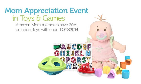 Amazon Mom 30% Off Toy Sale