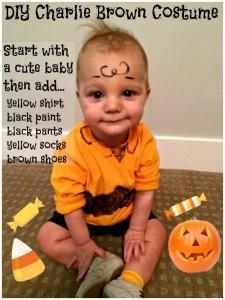Baby DIY Charlie Brown Costume