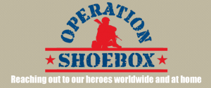 Donate to soldiers with Operation Shoebox