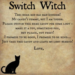 switch witch printable