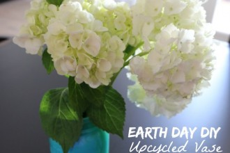 UPCYCLED Earth Day VASE