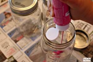 Squirt Paint Inside Jar