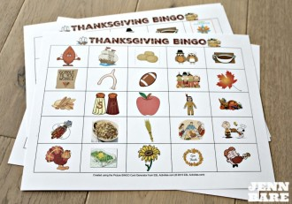 Play BINGO this Thanksgiving and have some family fun!